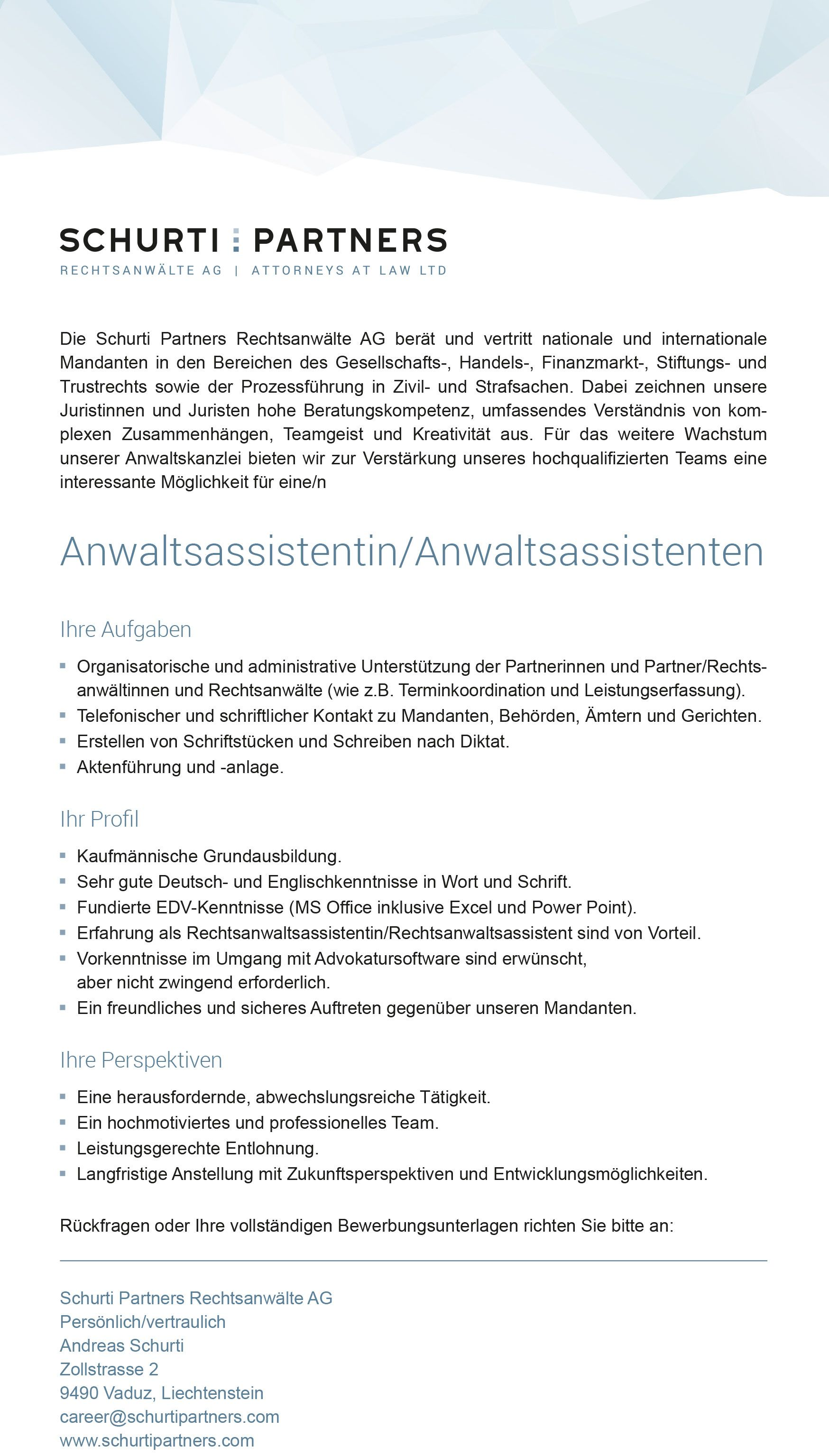 Anwaltsassistent/in